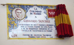 Azulejo en su honor en la plaza de toros de Las Ventas.