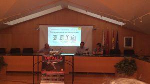 Un momento de la presentación de los carteles, celebrada en la casa consistorial de Tafalla.