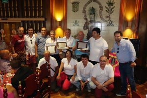 Los socios homenajeados del Club Taurino Estellés. Fotografía: Leyre Corroza
