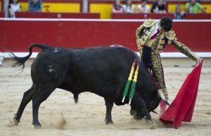 Natural de Toñete el pasado día 5 en Pamplona, donde falló a la hora de matar. Fotografía: Javier Arroyo.