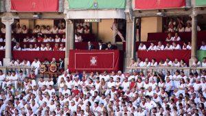 El palco presidencial de la plaza de toros de Pamplona durante una corrida de toros. Fotografía: Pablo Lasaosa.