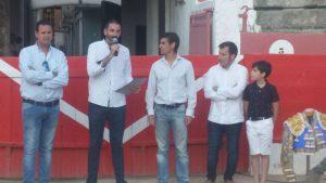 De izda. a dcha., Alberto García, Gorka García, Francisco Marco, José Luis Torres y Alberto Donaire. Fotografía: Ramón Villanueva.