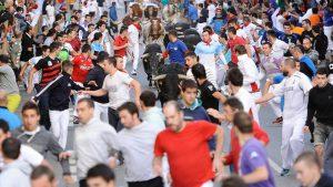 En el último encierro ha habido un notable incremento de corredores. Fotografía: Miguel Osés.