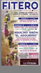 Cartel de la Feria de Fitero en honor a la Virgen de la Barda.