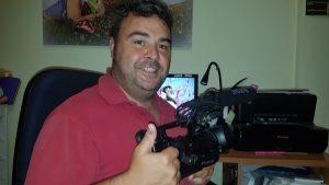 Juan Antonio Vaquero, autor del vídeo. Fotografía: Vaquero.