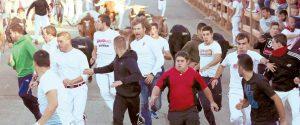 Al tratarse de un encierro con toros que se iban a lidiar por la tarde, se notó un incremento del número de corredores.