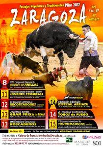 Cartel de la feria de festejos populares de Zaragoza.