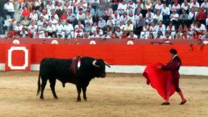 Chapurra yendo al toro, al cuarto