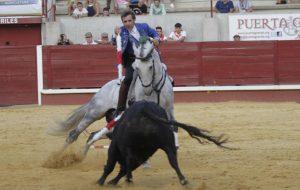 Hermoso en Don Benito, toreando con 'Donatelli', que tuvo una destacada actuación. Fotografía: pablohermoso.net