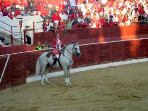 Mara Pimenta triunfó en Cascante, en la que fue su presentación en Navarra. Fotografía: Rafael Villafranca.