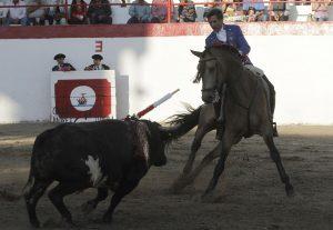 El caballero navarro toreando con 'Januca' en Nochistlán. Fotografía: pablohermoso.net