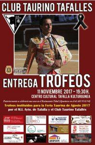 Cartel anunciador de la gala taurina de Tafalla.
