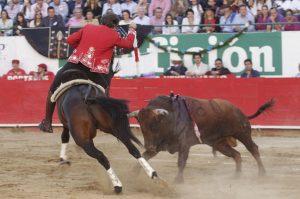El caballero navarro lo intentó todo en Guadalajara con 'Disparate' pero el lucimiento fue imposible. Fotografía: pablohermoso.net