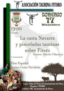 Cartel anunciador de la conferencia que ofrecerá Ramón Villanueva en Fitero
