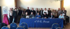 Representantes de entidades taurinas de Navarra que se dieron cita en Tudela.