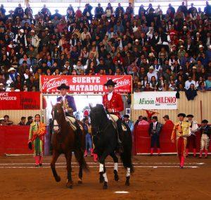 Los Hermoso volvieron a compartir paseíllo, esta vez en Moroleón. Fotografía: Emilio Méndez.