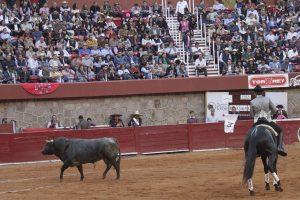 Las ganas del caballero navarro chocaron con la mansedumbre de sus toros.
