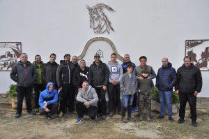 El grupo Mulilleros de Sangüesa en Fuente Ymbro, con el mayoral Alfonso Vázquez.