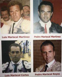 Los cuatro Mariscal que estarán presentes esta tarde en el taurino de Pamplona.
