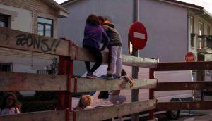 Vallado para la suelta de vaquillas en Zizur Mayor. Fotografía: Sesma.