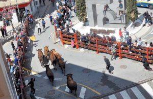 Un momento del encierro ceelebrado ayer en Corella. Fotografía: Alberto Jiménez.