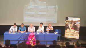 Un momento del acto de presentación de los carteles de la Feria de Tafalla.