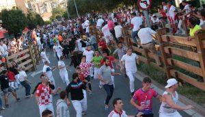 Los toros de Aldeanueva han 'volado' por las calles tudelanas. Fotografía: Blanca Aldanondo.