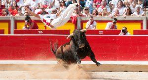 Los festejos ppulares de San Fermín, todo un espectáculo taurino.
