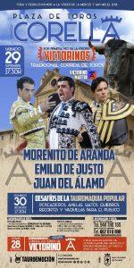 Cartel anunciador de la corrida de toros de Corella.