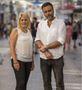 Silvia Barquero y su marido, Luis Víctor Moreno, presidenta y vicepresidente del partido político Pacma.