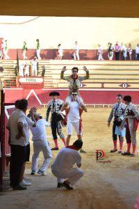 Lagartijo ha conseguido la primera puerta grande la Feria del Piquillo de Oro.