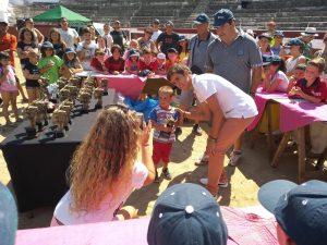 Hubo premios y trofeos prácticamente para todos los niños.