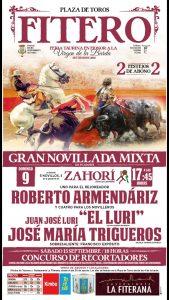 Cartel anunciador del festejo mixto que se celebrará en Fitero.