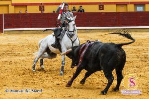 Armendáriz, en Almodóvar del Campo, dos días antes de torear en Fuenlabrada. Fotografía: Manuel del Moral.