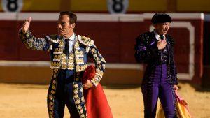 El Cid saluda al público en la pasada Feria de Tudela.