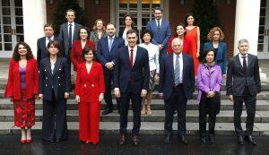 Fotografía del primer equipo de Gobierno de Sánchez, que ha marginado a la Tauromaquia en sus presupuestos.