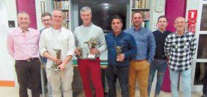 De izquierda a derecha: Víctor Navas, Manuel Romeo, Adrián Domínguez, Teodoro Vergara, Manuel Merino, Antonio Antón, Carlos Ayensa y Pedro Moreno.