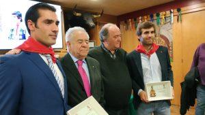 De izda. a dcha., Javier Antón, José María Sevilla, Juan Ignacio Ganuza y Javier Marín. Fotografía: Miguel Monreal.