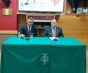 Tomás Prieto de la Cal, con gafas, y Jose Ignacio Ganuza.