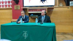 Pablo Saugar `Pirri' junto a Juan Ignacio Ganuza, en un momento de la charla del jueves