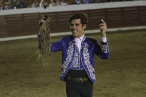 Guillermo Hermoso de Mendoza consiguió en Calkiní el segundo rabo de su emporada americana.