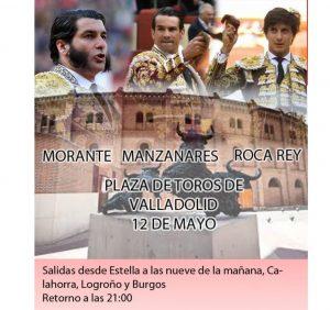 Cartel publicitario del viaje a Valladolid.