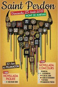 Cartel anunciador de la jornada taurina en Mont de Marsan.