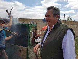 El ganadero José Antonio Baigorri, en un momento del herradero.