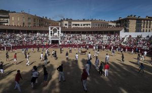 La plaza de toros de Estella cumplió cien años en 2017.