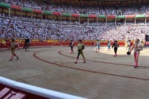 Paseíllo en la plaza de Pamplona el año pasado. Sin corridas de toros, ¿cómo se podrá financiar la Casa de Misericordia?