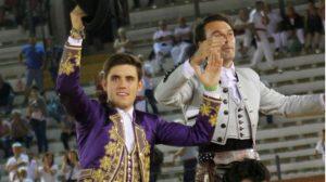 Guillermo Hermoso de Mendoza compartió la puerta grande en Teruel con Andy Cartagena.