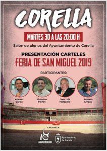 Cartel de la presentación de la Feria de San Miguel de Corella.