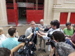 Un momento de la presentacíón de las obras llevadas a cabo por la Casa de Misericordia de Pamplona.