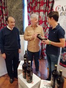 Guillermo Hermoso de Mendoza recogió en León su peso en vino.